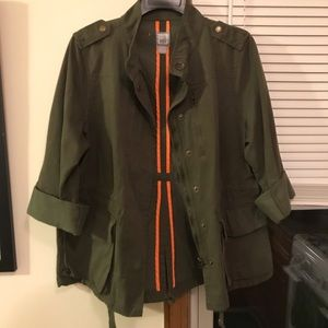JC Penny army green jacket. Large.
